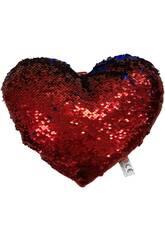 Cojín Corazón Lentejuelas 30 cm. Llopis 18171