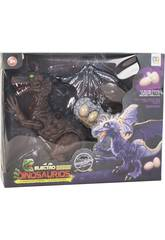 Dinosaurio 32 cm. Andador con Luz, Sonido y 3 Huevos