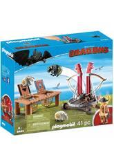 Playmobil Como Treinares O Teu Dragão Bocón com Lançador de Ovelhas 9461