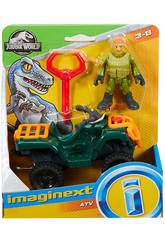Jurassic Wordl Imaginext Figurine avec Véhicule Mattel FMX92