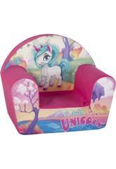 Sillón Infantil Unicornio 41x50x32 cm.