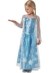 Disfarce de Menina Elsa Classic Tamanho M Rubies 620975-M