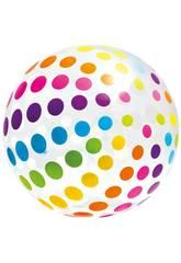 Pallone Gonfiabile Gigante Pois da 183 cm Intex 58097