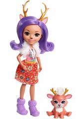 Enchantimals Bambola con Cucciolo Danessa con Cerbiatto Mattel FNH23