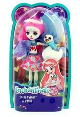 Enchantimals Muñeca Saffi y Mascota Cisne Mattel FRH38
