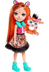 Enchantimals Bambola Tanzie la Tigre Multicolore Mattel FRH39