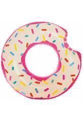Luftmatratze Erdbeer-Donut von 107 cm. Intex 56265