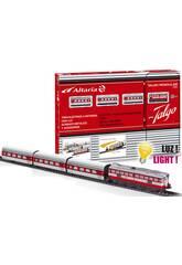 Tren Eléctrico Articulado con Locomotora Roja Pequetren 505