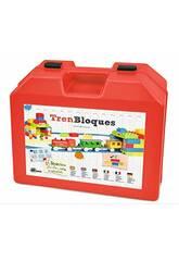Train Électrique pour Enfants avec Blocs de Construction Pequetren 2002