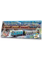 Treno Elettrico di Natale con Ponte e Tunnel Pequetren 500