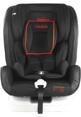 Seggiolino Auto Gruppo 0-1-2-3 Confort Fix Rosso Asalvo 15075