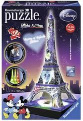 Puzzle 3D Torre Eiffel Mickey y Minnie con Luz Ravensburger 12520