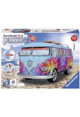 Puzzle 3D Camper Volkswagen T1 Indian Summer 162 peças Ravensburger 12527