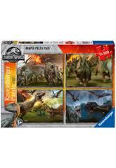 Jurassic World Puzzle 4x100 Piezas Ravensburger 6976