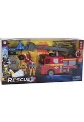 Camion Dei Pompieri e Elicottero di Soccorso Con Accessori