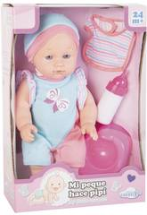 Muñeca Bebé Pipí 30 cm. con Accesorios