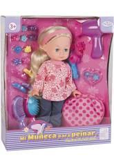 Puppe 30 cm. mit Zubehör für die Haare