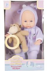 Babypuppe Pijama 30 cm. mit Plüschtier