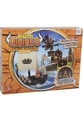 Assalto Viking Playset com Barco, Ilha e Figuras