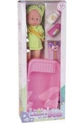 Babypuppe Set 30 cm. mit Badewanne und Badezimmerzubehör