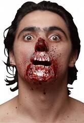 Cicatriz de Latex Zombie para Boca y Nariz