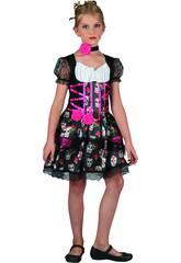 Disfraz Niña Día de los Muertos Talla XL