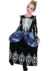 Disfraz Niña Reina Esqueleto Talla S