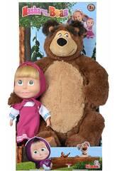 Puppe Masha 23 cm. Mit Kuschelbär Simba 9301016