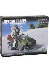 Troupes Spéciales Explorateur avec Moto-Neige et Accessoires Blocs 63 Pièces