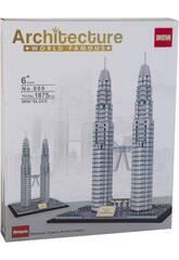 Bloques de Construcción Torres Petronas 1875 Piezas