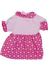 Moda Bebé Muñecas 40 cm. Vestido Rosa Flores