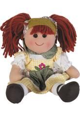 Bambola di Pezza Vestito a Quadri 30 cm