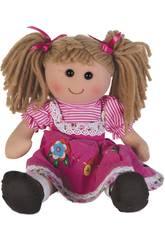 Puppenstoff Rosa Kord 40 cm.
