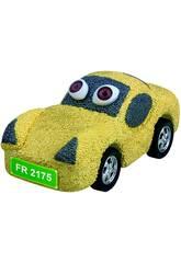 Schaumstoffschaum zum Formen von gelben Autos