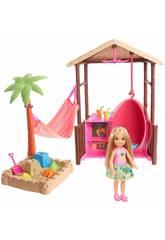 Barbie Chelsea Und Ihre Hütte Am Strand Mattel FWV24
