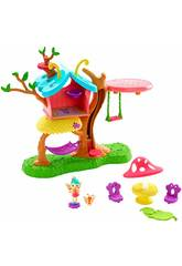 Enchantimals Playset con Due Bambole Baxi La Farfalla, Wingrid Il Bruco Mattel GBX08
