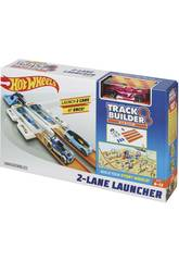 Hot Wheels Track Builder Doble Lanzador Competición Mattel DJD68