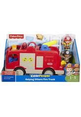 Fisher Price Little People Camion dei Pompieri Mattel FPV33