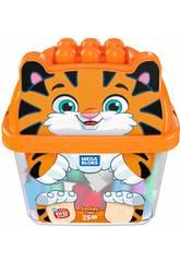 Mega Bloks Secchiello Cucciolo Tigre 25 Blocchi Mattel GCT48