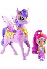 Shimmer et Shine Pack Shimmer et Zahracorne Magique Ailé Mattel GCM01