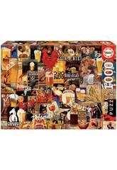 Puzzle 1.000 Collage de Bière Vintage Educa 17970