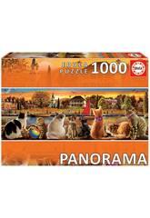 Puzzle 1.000 Gatos No Embarcadouro Panorama Educa 18001