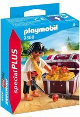 Playmobil Pirate avec Coffre au Trésor 9358
