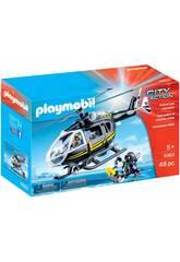 Playmobil City Action Elicottero Unità Speciale con sommozzatore 9363