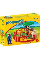 Playmobil 1.2.3 Recinto dei leoni 1.2.3 9378