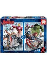 Puzzle 2x500 Marvel Avengers (Vingadores) Educa 17994