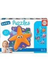 Baby Puzzle Animales Del Mar Educa 18058