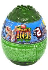 Breakout Beasts Uovo con Creatura Mostruosa e Slime a Sorpresa serie 2 Mattel GCK31
