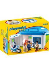 Playmobil 1.2.3 Centrale della Polizia portatile 1.2.3 9382