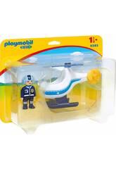 Playmobil 1,2,3 Helicóptero de la Policía 9383